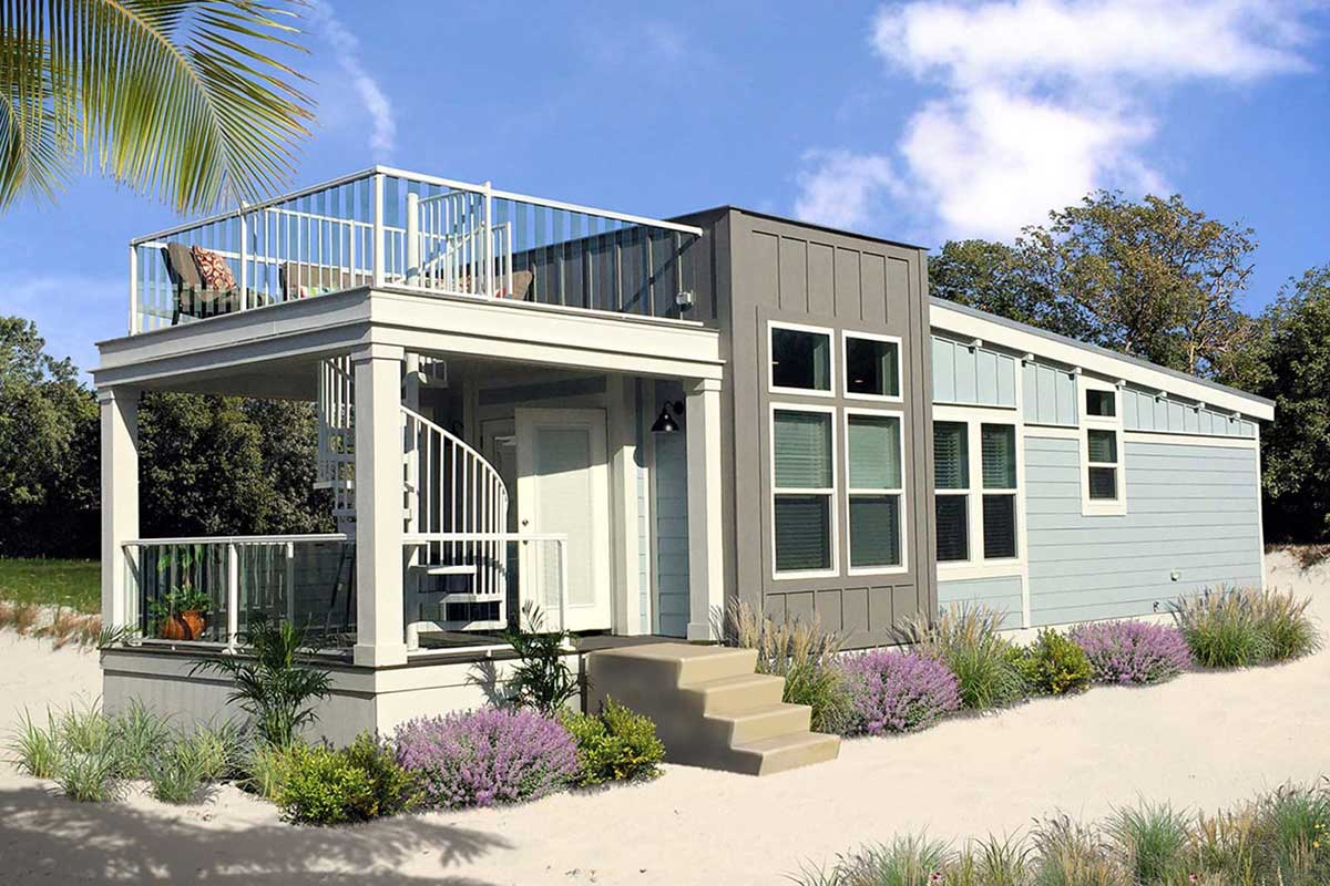 Modern small mobile homes