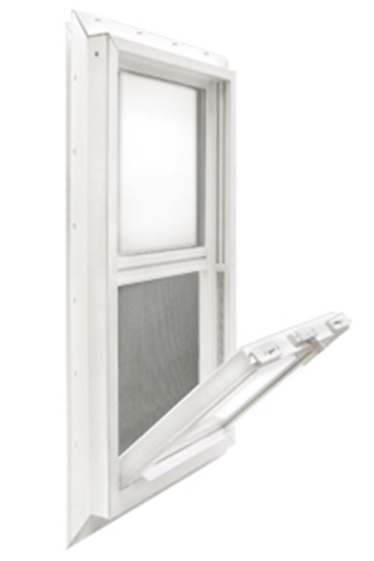 1 Kinro 30 x 27 Vinyl Vertical Sliding Window for Mobile Home