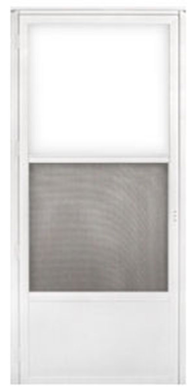 1. 34 x 76 Kinro Out Swing Self Storing Storm Door