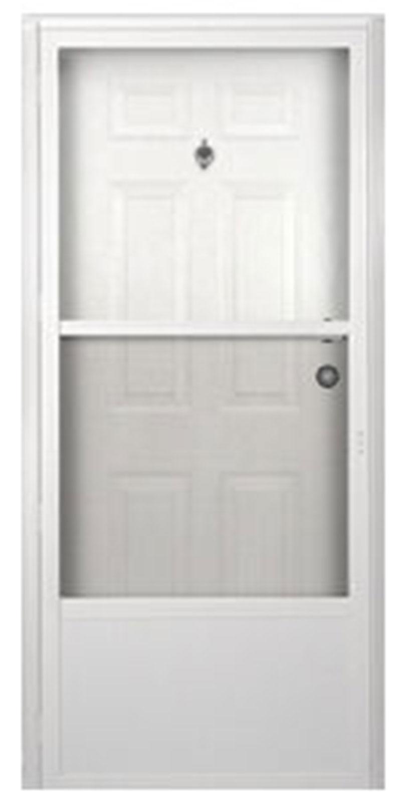 1. Six Panel Steel Combination Mobile Home Exterior Door