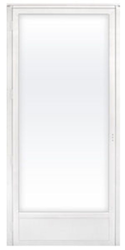 2. 34 x 76 White Out Swing Full View Storm Door