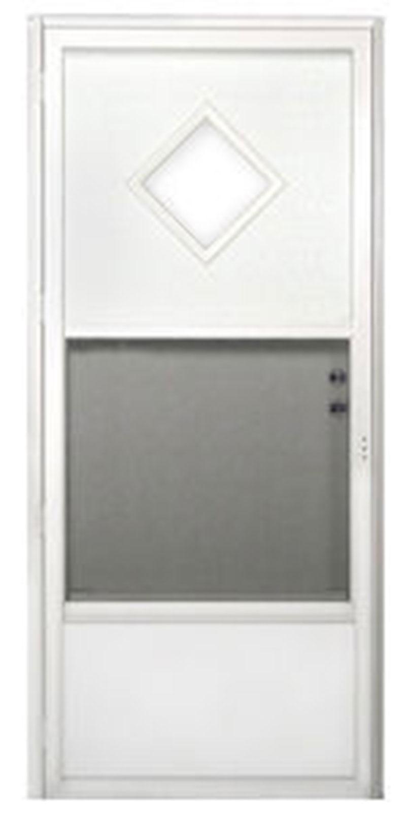 2. Combination Mobile Home Exterior Door with Diamond Window