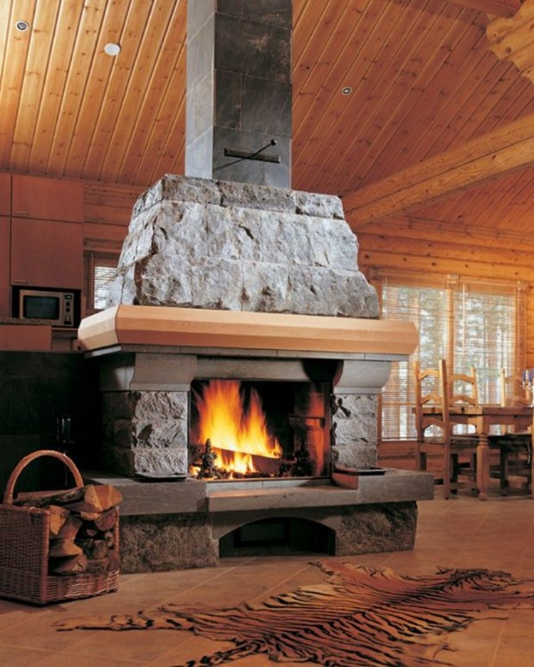 country-style-kitchen-fireplaces