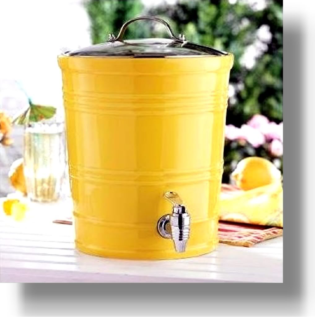 yellow-ceramic-beverage-dispenser