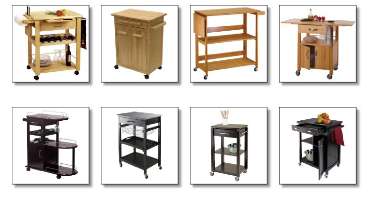 wooden kitchen carts