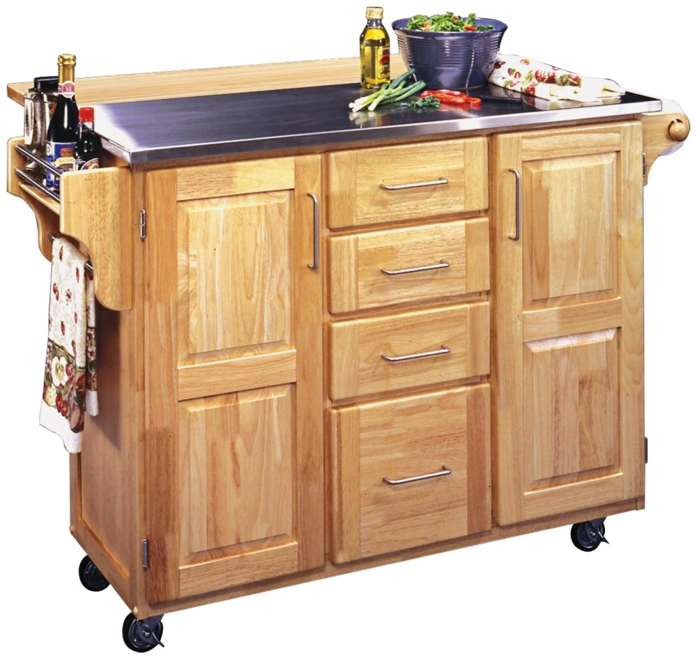 home-styles-stainless-steel-top-kitchen-cart-with-breakfast-bar