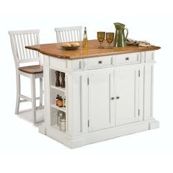 kitchen-island-and-stools-white-and-distressed-oak-finish