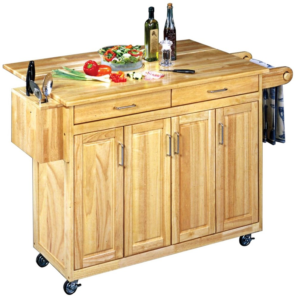mobile-kitchen-island-with-breakfast-bar