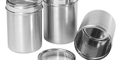 stainless steel 3 pc canister set