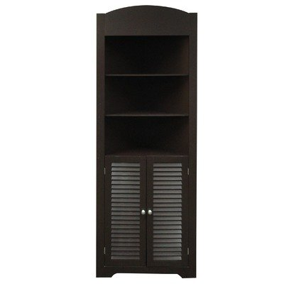 black-and-tall-corner-pantry-cabinet