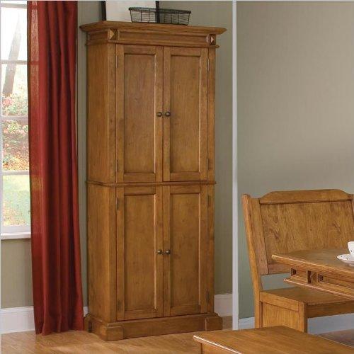 oak-corner-pantry-cabinet