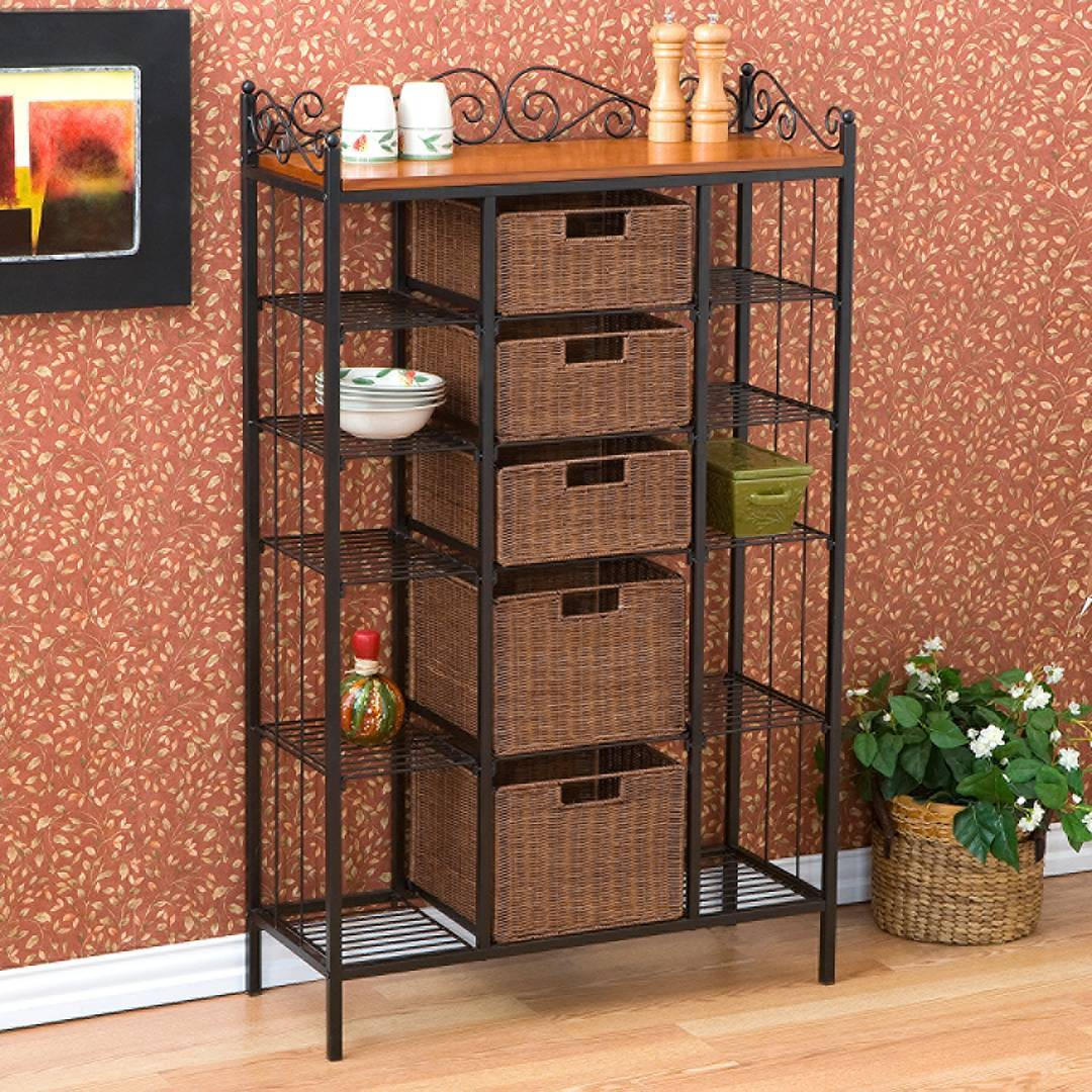 Bakers Rack Ideas For Your Kitchen Buungi Com