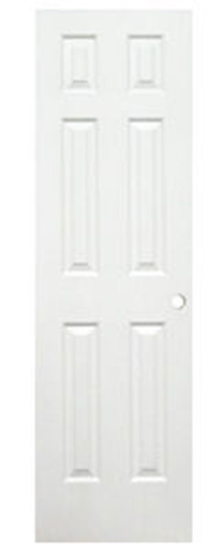 4. 24 x 80 Six Panel White Interior Door
